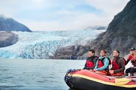Rafting at Mendenhall Glacier